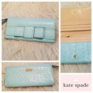 New $168 KATE SPADE Ostrich Wristlet Wallet Bag